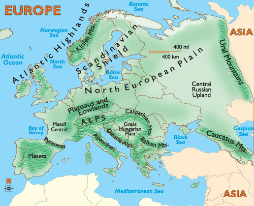 European-mountain-ranges
